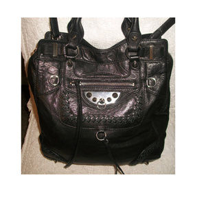 Sam Edelman Lrg BlackLeather Convertible Crossbody